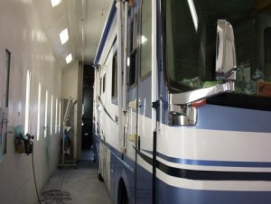 Pace Coach in A1 RV Sales Paint Booth